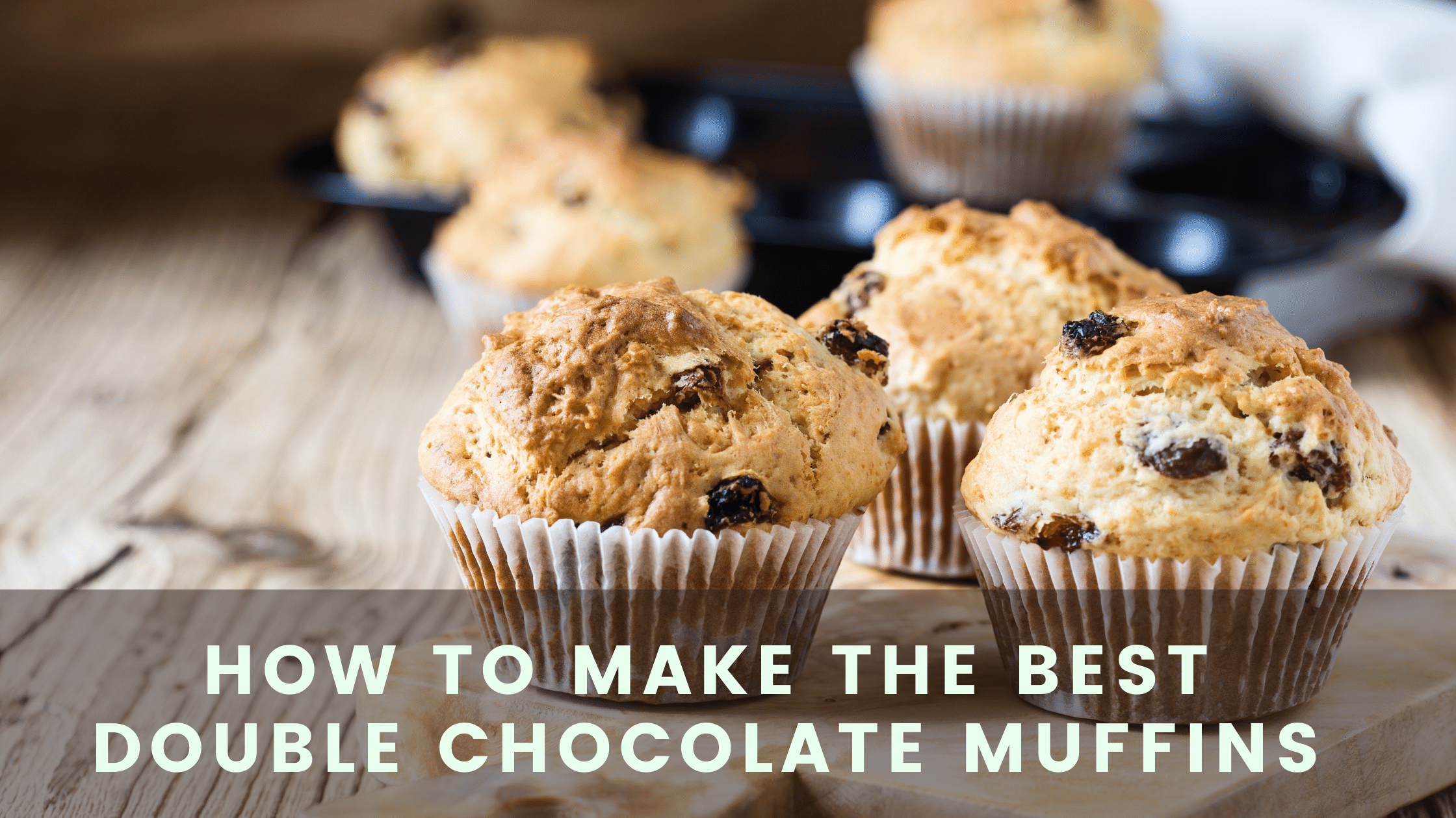 how to make the best double chocolate muffins